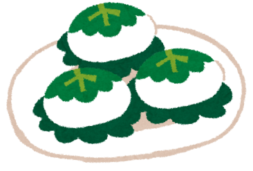 <柏餅> 柏の葉は、次の新芽が出るまで落ちないことから、 家督が絶えないことの象徴とされ、武家にとっては演技の良いもの と考えられてきました。