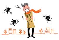 インフルエンザウイルスは寒さと乾燥に強く、暑さと湿気に弱いいので、冬は最も活発になる季節です。インフルエンザウイルスは、A型、B型、C型の3タイプがありますが、大規模な流行を起こすのはA型とB型で、突然変異して大流行を起こす新型ウイルスも報告されています。インフルエンザウイルスは、普通の風邪ウイルスと違い、空気中にただよって長時間生きることができるので、ウイルスがいる空気を吸い込むだけでも感染してしまいます。そのため、感染者がいれば、その周辺にいる人にも感染しやすくなります。