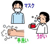 効果は限定されますが、帰宅後すぐの手洗いが大切です。もちろんうがいも欠かせません。マスクは、ウイルスがマスクの織り目を通過してしまうので、予防には大きな効果は期待できませんが、かかった人が他の人にうつすことはある程度避けられます。また冷たく乾燥した空気から、のどや鼻の粘膜を守るのに役立ちます。