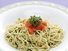 イタリア・ジェノバ地方生まれのソース『ジェノベーゼ』は、 バジルペーストに、松の実、チーズ、オリーブオイル等を加えたものですが、eヘルシーレシピではバジルの代わりに青じそを使って、『しそベーゼ』を作ってみました。多めに作って冷凍保存しておけば色々アレンジが楽しめます。レシピでは、冷たいスパゲッティと合わせましたが、素麺でもお試しください。詳細はコチラへ