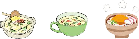 エネルギー補給を!発熱で失われたエネルギーを補給しましょう スープ、雑炊や煮込みうどんなどに、消化が良く栄養豊富な卵を足すのがおすすめです